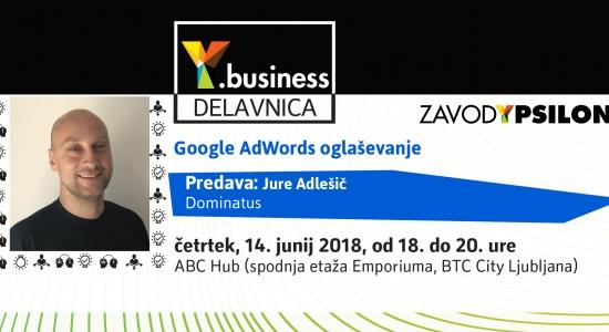 Y.business delavnica: »Google AdWords oglaševanje«